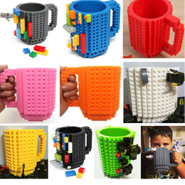 Wholesale Puzzles Bar - Build-on Brick Blocks Mug Cups 301-400ml DIY Assembled Puzzle Creative Decompression Dining Bar Office Coffee Cup PX-C04
