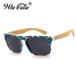 Wholesale Bamboo Wooden Shades - Handmade Bamboo Sunglasses 2017 Men Women Brand Designer Wood Sunglasses Retro Vintage Wooden Square Frame Sun Glasses Shades