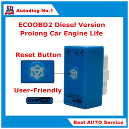 Wholesale Ford Buttons - Power Prog New Brand EcoOBD2 Diesel Car Chip Tuning Box ECO OBD2 Economy Plug & Drive ECU Remap Tool Save Fuel With Reset Button