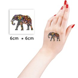 Wholesale Tattoo Stickers Body For Girl - Wholesale- 6*6cm Walk Elephant Beautiful Cute Sexy Body Art Beauty Makeup Cool Waterproof Temporary Tattoo Stickers for Girls and Man