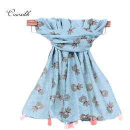 Wholesale Lovely Baby Shawls - Wholesale- 2016 New Children Winter Autumn Comfortable Soft Cotton Tassels Scarf lovely Bear Baby Cute Shawls Boys And Girls Scarves