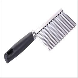 Cuchillos de cocina de alta calidad online-Cuchillo de patata ondulado multifunción Cocina familiar de acero inoxidable herramienta esencial Cortadora de alta calidad 1 3hj I1 R