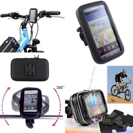 "Wholesale Rain Bikes - Bike Bicycle Rain Waterproof Handlebar Case Cover Mount Holder Motorcycle Zipper Bag Pouch For Iphone 6 Plus 5.5"" Galaxy S8 S7"