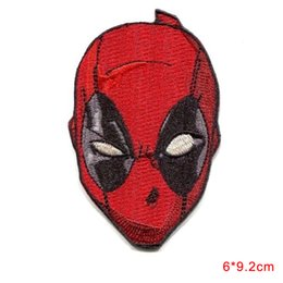 Wholesale Deadpool Accessories - new arrival DEADPOOL Mask IRON-ON Comic Embroidered Applique Patch DIY Hobby Clothes