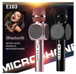 Wholesale Best Sing - New E103 design karaoke microphones speaker magic microphone HANDLED MIC best quality singing songs conference player