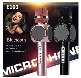 Wholesale Karaoke Magic Sing - New E103 design karaoke microphones speaker magic microphone HANDLED MIC best quality singing songs conference player
