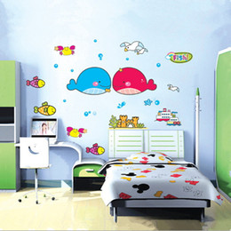 Wholesale Chinese Children Room - Removable Ocean Wall Stickers Kid Room Cute Wallpaper Children Hot Sale Decor Large Decoration Adhesive Child Bedroom Ocean