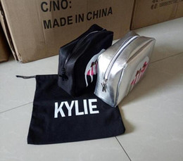 Wholesale Pillow Kits - New Kylie Jenner Make Up Bag Holiday Edition Makeup Bag Kylie Lip Kit Cosmetics Bag High Quality Free Shipping bags