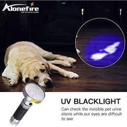Wholesale Uv Led 5w - AloneFire Super 100UV LED Light 395-400nm LED UV Flashlight torch for 6xAA battery