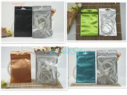 Wholesale Black Ziplock Bags - 100pcs lot 8.5x13cm front matte transparent plating foil ziplock bag, color mylar phone case packing pouch resealable, pack watch black sack