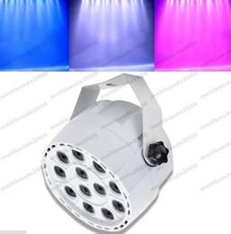 Wholesale Led Disco Spot - 2017 NEW Mini Sound Activate DMX Control 12 LED RGBW Color Mixing Par Spot Light Disco Party DJ Music Show Projector Lighting Effect MYY