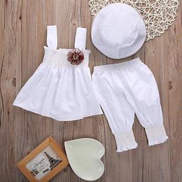 Wholesale Girls Hooded Dress - Newborn Baby Girls Princess Dress Tops Pants Hat 3pcs Kids Outfits Sets Baby Girls Clothes Set Girls Clothing Set 0 24M