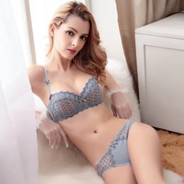 Wholesale Dot Ribbon Yard - Ladies sexy large yards bra Taobao lace palace ultra-thin bra package manufacturers wholesale 2015