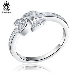 Wholesale 925 Sterling Silver Rings Arrow - New Arrived Genuine 925 Silver Rings Heart Shape & Arrow-tail Design Adjustable Finger Rings For Women SR05