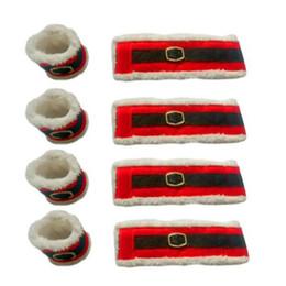 Wholesale Christmas Tree Napkin Rings - Wholesale-4 Pcs   Lot Christmas Belt Buckle Napkin Rings Napkin Holder Party Banquet Dinner Table Decor adornos navidad 2016 envio gratis