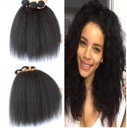 cheveux malais vierges yaki Promotion Grade 8A armure malaysienne vierge crépus droite 3 faisceaux malaisienne cheveux lumière yaki cheveux tisse kinky yaki trame