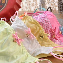 Wholesale Girls G Strings - Women Panties 12 pieces Candy Color Low-Waist Sex lady panties G-Strings girls underwears woman underwear 428