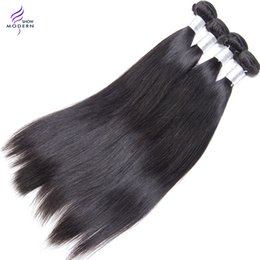 Wholesale Top Hair Sellers - Top Seller Modern Show Malaysian Virgin Hair Straight Human Hair Weave Natural Black 1b Can be Dyed and Bleached All Color