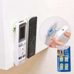 Wholesale Wall Paste Hook - Wholesale- 2Pcs set Paste Type Remote Controller Storage Hooks Free Seamless Strong Wall Hook
