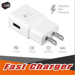 Wholesale Charger Adapter For Apple - For Samsung S8 S7 QC2.0 fast charge Wall Charger Adapter 5V 2A Home Plug For Samsung Galaxy S6 True Full 2A Without LOGO US EU Plug