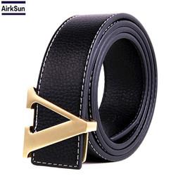 Wholesale Men Casual Belts Best Brands - 2017 best selling high-end luxury brand designer cow leather man V belt, ladies fashion belt women famous belts