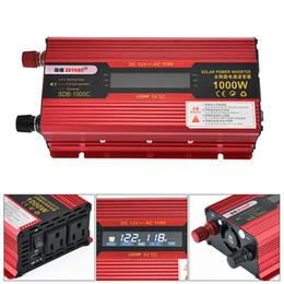 Canada 1000W Car Power Onduleur LCD Affichage En Alliage D'aluminium Convertisseur D'énergie Solaire 12 V 24 V à AC 230 V 110 V CEC_63E Offre