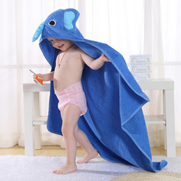 Wholesale Baby Boy Hooded Bath Robe - Kids Towel 2017 Toddler 100% Cotton Bathrobe Baby Boys Girls Spring Animal Hooded Bath Towel Children Cartoon Towel