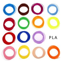 Wholesale Pla Plastic 3d Printer - 20 color set 3D Printer Pen Filament ABS PLA 1.75mm Plastic Rubber Consumables Material 3d pen filament Wholesale Price