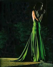 Imagens de referência on-line-vestido sonhando caiu Peplum Chiffon V Neck Cristal Beading imagens de referência sexo e beaufull Dresses Prom