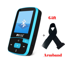 Wholesale Card Reading - Wholesale- Mini Original RUIZU X50 Bluetooth MP3 Player 8GB Sport Clip MP3 Music Player Support TF SD Card with earphone armband
