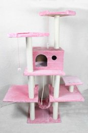 grande maison pour animaux de compagnie Promotion NewCat Tree Condo Furniture Scratch Post Pet House