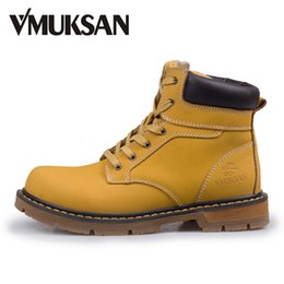 Wholesale Moto Shoes - Wholesale- VMUKSAN Men Boots EURO 40-45 New 2016 Leather Ankle Boots Mens Fashion Shoes Winter Booties Waterproof Botte Moto Rain Boots