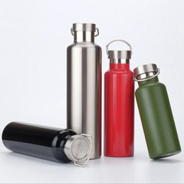 Wholesale Green Eco Walls - Sports Bottle Vacuum Insulated Stainless Steel Water Bottle Double Wall Portable Leak Proof Travel Mugs Outdoor Travel Climbing Cups OOA2285