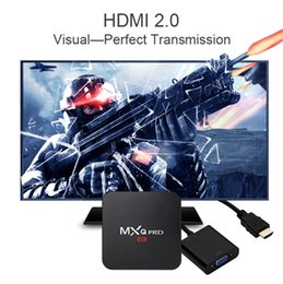 Wholesale Set Box Hdmi - Factory Sale MXQ Pro 4K Android 6.0 TV Box RK3229 Quad Core 1GB 8GB Set Top Box Fully Loaded KD16.1 Jarvis