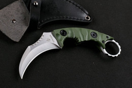 Wholesale Defence Knives - Newest Strider Defence Karambit Knife D2 Steel Blade G10 Handle Tactical Camping Hunting Survival Pocket Knife Utility Military EDC Tools