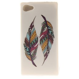 Wholesale Compact Girls - For SONY Xperia Z2 z3 M2 M4 M5 T3 Z3 COMPACT Z5 COMPACT MOTO G2 MOTO G3 Flag Feather OWL Henna Flower Lion Sex Girl TPU IMD CASE COVER 100PC
