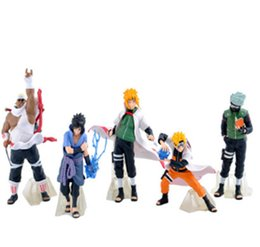 Wholesale Kakashi Hatake Action Figure - 10-15cm Japanese Anime Figures Naruto Hatake Kakashi  Uchiha Sasuke  Yondaime Hokage Action Figures Toys for children 5pcs lot
