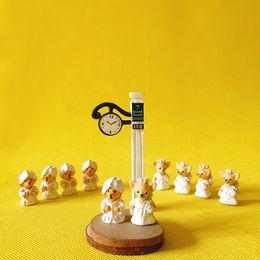 Wholesale bride groom figurines - 10 Pcs bride and groom cute animal couple miniatures figurine fairy garden gnome terrarium decor home decor doll house