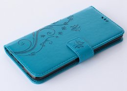Funda mini s5 online-Para Samsung Galaxy S5 mini S6 S7 borde S8 Plus Funda Flip Funda Cartera de flores Plain Business para Galaxy S6 edge Case