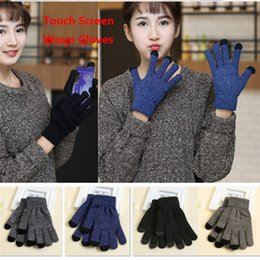 Wholesale Wool Ipad - DHL Free shipping Knit Wool Touch Gloves for iPhone Touch Screen Gloves for iPad 4 colors B1075