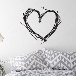 Wholesale Tree Branch Wall Decals Removable - Heart Shaped Tree Branch Wall Stickers Home Decor Living Room Removable Vinyl Wall Decals Bedroom Decoration