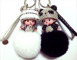 Wholesale Gold Chain Handbag Silicone - Han edition hair bulb key chain car plush pendant ladies the fashion handbags accessories DIY accessories
