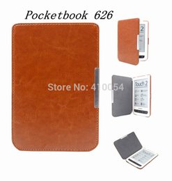 "Wholesale Tablet Magnetic Book Case - Wholesale- Magnetic Flip Cover Case For Pocketbook Touch 626 6"" 6 inch Crazy Horse Leather Tablets & e-Books Case Free Shipping"