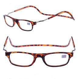 Wholesale Folding Magnifying Glasses - Folding Magnets magnifying reading glasses magnetic Front Connect unisex eyeglasses hang folding Men Women Spectacles Old People 4 colors