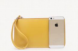 Wholesale Envelope Mini - 100Pcs lot Newest Women Fashion candy color Pu leather Flap Clutch Bags cell phone Envelope bagsbags 20*12cm