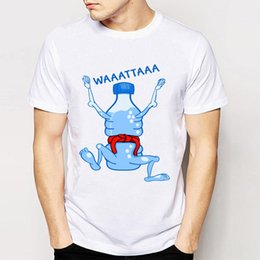Wholesale Good Water Bottles - Brand Summer Men Tees Funny Water Bottle Karate Print Tee Shirts Novelty Boy T-Shirts Good Quality Comfortable T Shirts
