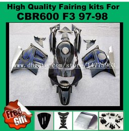 Wholesale Cbr F3 - 9Gifts fairing kits for honda CBR600 F3 fairings set CBR 600 F3 1997 1998 CBR 600F3 abs fairing 97 98 5-colors for your choice