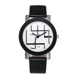 Assistir mapas de design on-line-Relógio por atacado Linha Mapa Mostrador do Relógio de Couro 2 Cores Liga Design Simples Relógio de Pulso Para Mulheres Dos Homens casal