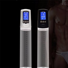 Wholesale Male Penis Enhancement - Penis Pump with USB Rechargeable,enlarge penis extender,LED Automatic Penis Enlarger Male Enhancement,sex toys for men