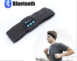 Wholesale Music Hair - Stereo blueteeth wireless music headbands running fitness hair bales 21 hours battery standby Hot sale factory wholesale